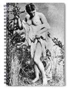 Nude In Wilderness Spiral Notebook