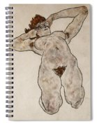 Nude Lying Down Spiral Notebook