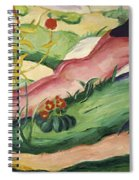Nude Lying In The Flowers 1910 Spiral Notebook