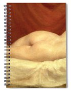 Nude Lying On A Sofa Against A Red Curtain Spiral Notebook