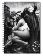 Nude Posing, C1843 Spiral Notebook