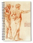 Nude Study Of Two Warriors Spiral Notebook