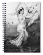 Nude With Butterflies Spiral Notebook