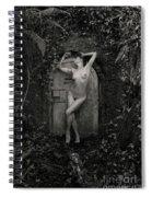 Nude Woman And Doorway Spiral Notebook