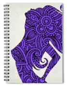 Nude Woman Silhouette Ultraviolet Spiral Notebook