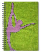 Pink Nude Yoga Girl Spiral Notebook