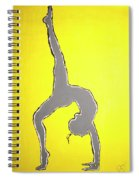 Nude Yoga Girl Gray Spiral Notebook