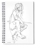 Nude_male_drawing_29 Spiral Notebook