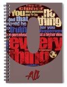 Number 0 Spiral Notebook