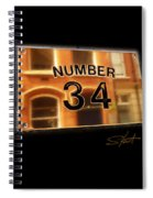 Number 34 Spiral Notebook