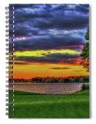 Number 4 The Landing Reynolds Plantation Golf Art Spiral Notebook