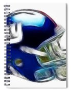 Ny Giants Helmet - Fantasy Art Spiral Notebook