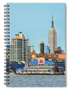 Ny Skyline And Chelsea Piers Spiral Notebook