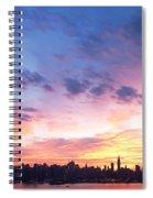 Ny Skyline Dawn Delight Spiral Notebook