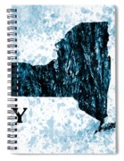 Ny State Map  Spiral Notebook