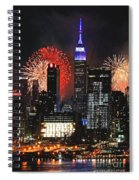 Nyc 4th Of July Fireworks Spiral Notebook
