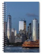 Nyc And Staten Island Ferry Spiral Notebook