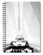 Nyc- Inside The Oculus In Black And White Spiral Notebook