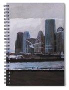 Nyc Pier 11 Layered Spiral Notebook