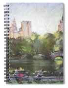 Nyc Resting In Central Park Spiral Notebook