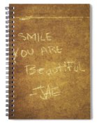 Nyc Street Art Quote Spiral Notebook