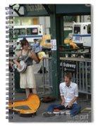 Nyc Street Musicians Banjo Spiral Notebook