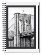 Nyc Three Bridges-east River Spiral Notebook