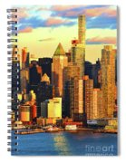 Nyc West Side In Gold And Blue  Spiral Notebook