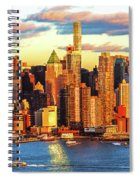Nyc West Side Skyscrapers At Sundown Spiral Notebook
