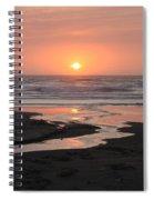 Nye Beach Sunset Spiral Notebook