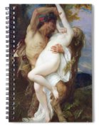 Nymph Abducted By A Faun Spiral Notebook