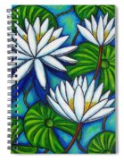 Nymphaea Blue Spiral Notebook