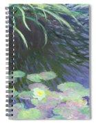 Nympheas Avec Reflets De Hautes Herbes Spiral Notebook