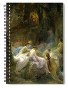 Nymphs Listening To The Songs Of Orpheus Spiral Notebook