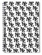 Nz New Zealand Black On White Spiral Notebook
