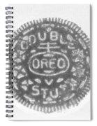 O R E O In Black Negative Spiral Notebook