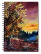 Oak At Sunset Spiral Notebook