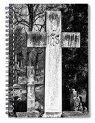 Oak Hill Cemetery Crosses #2 Spiral Notebook
