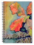 Oak Leaves And Pinecones Spiral Notebook