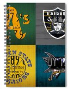 Oakland Sports Fan Recycled Vintage California License Plate Art Athletics Raiders Warriors Sharks Spiral Notebook