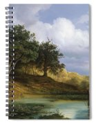 Oaks Beside The Water 1832 By Christian E. B. Morgenstern Spiral Notebook
