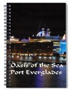 Oasis Of The Seas Spiral Notebook