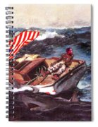 Obama At Sea Spiral Notebook