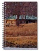 Obear Park At Sunset In Winter Spiral Notebook