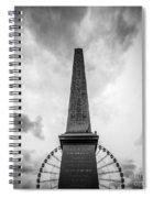 Obelisk And Big Wheel At Place De La Concorde, Paris Spiral Notebook