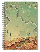 Oberbayern Regierungsbezirk Bayern 3d Render Topographic Map Bor Spiral Notebook