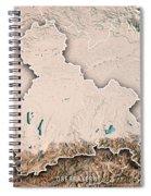 Oberbayern Regierungsbezirk Bayern 3d Render Topographic Map Neu Spiral Notebook