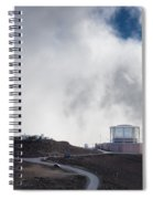 Observatories At The Summit Of Mount Haleakala Spiral Notebook