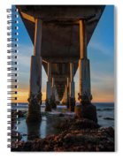 Ocean Beach Pier Spiral Notebook