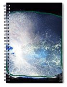Ocean - Black And White Abstract Spiral Notebook